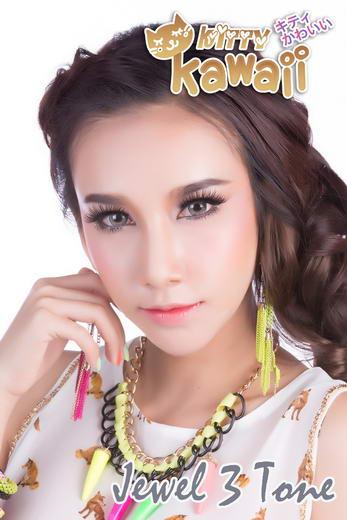 Jewel 3Tone Kitty Kawaii Bigeye Images