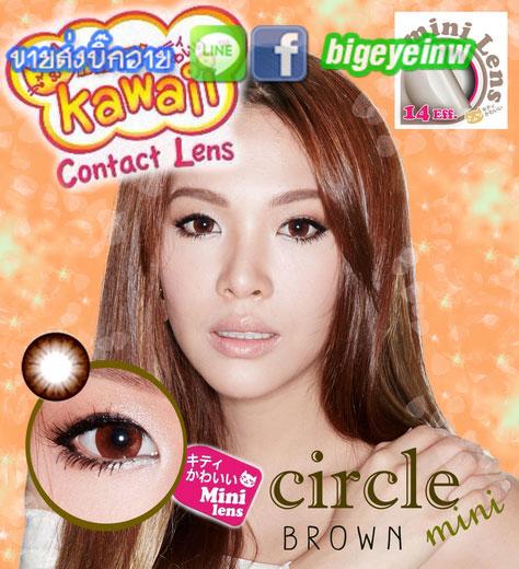 คอนแทค !Circle (mini) หรือ  บิ๊กอายสีน้ำตาล